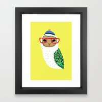 I Love Owls Framed Art Print