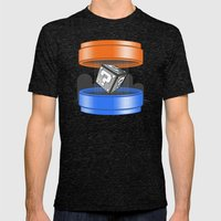 Thinking With Plungers Mens Fitted Tee Tri-Black SMALL