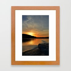 a sunset in your wake.  Framed Art Print