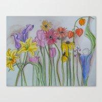 Spring Lineup  Canvas Print
