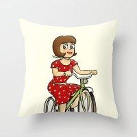 Bicycle. Throw Pillow