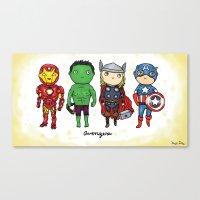 Super Cute Heroes: Avengers! Canvas Print