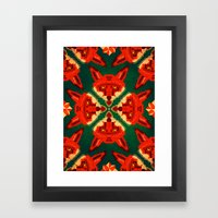 Fox Cross Geometric Patt… Framed Art Print