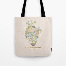 A Traveler's Heart Tote Bag