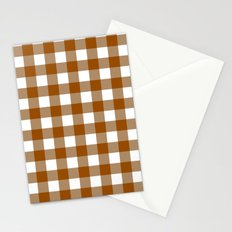 Gingham (Brown/White) Stationery Cards