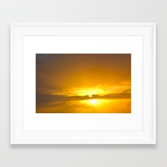 Sunset Over the Atlantic Framed Art Print