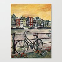 Going Dutch (blue) Canvas Print