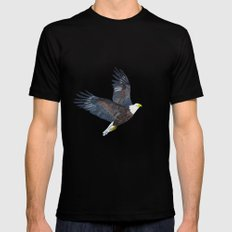 Bald eagle in flight Black Mens Fitted Tee SMALL