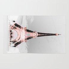pariS Black & White + Pink Rug