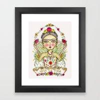 Frida Kahlo Viva La Vida Framed Art Print