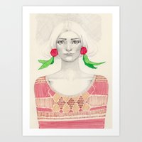 Two Red Flowers Art Print