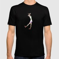 Derby Chick Mens Fitted Tee Black SMALL