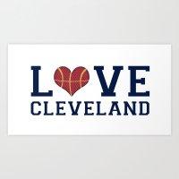 Love Cavs Art Print