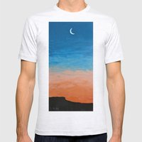 Pre-Dawn Moonrise, painting Mens Fitted Tee Ash Grey SMALL