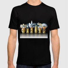 The Toon Bullets (aged version) Mens Fitted Tee Black SMALL