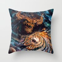 Milking The Stars - Mons… Throw Pillow
