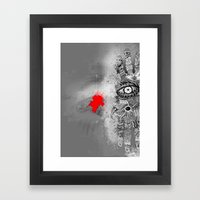 On/off Framed Art Print