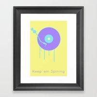 Keep `em Spining Framed Art Print