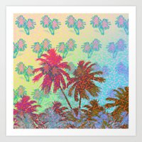 california Art Prints featuring CALIFORNIA by DIVIDUS