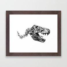 Jurassic Bloom - The Rex.  Framed Art Print
