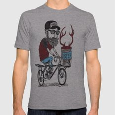 mason jar with antlers Mens Fitted Tee Athletic Grey SMALL