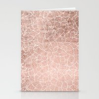 Modern faux rose gold stripes geometric pattern illustration Stationery Cards