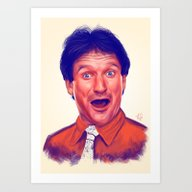 Young Robin Williams  Art Print