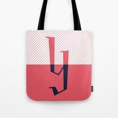 Y Drop Cap Design Tote Bag