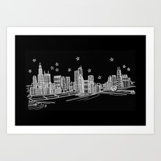 Chicago, Illinois City Skyline Art Print