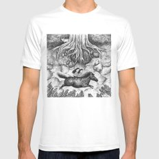 Sisters White Mens Fitted Tee SMALL