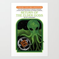 Cthulhu Your Own Adventure Art Print