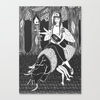 Black #1 Canvas Print
