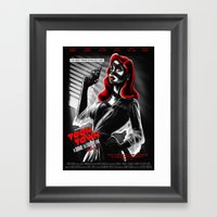 Toon Town: A Dame To Fra… Framed Art Print