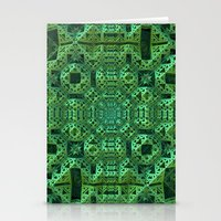 Green One Stationery Cards
