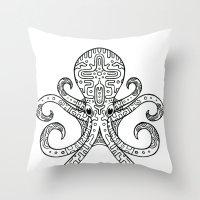 Mandarin Dragonet Octopu… Throw Pillow