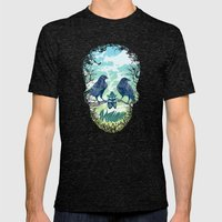 Nature's Skull Mens Fitted Tee Tri-Black SMALL