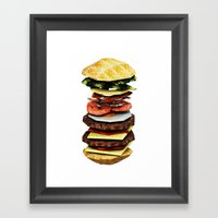 Graphic Burger Framed Art Print