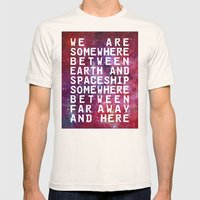 IN BETWEEN Mens Fitted Tee Natural SMALL
