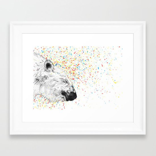 Polar Bear // Endangered Animals Framed Art Print