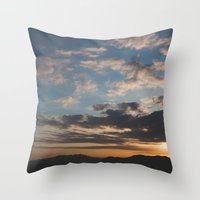 Sunset Hike Los Angeles Throw Pillow