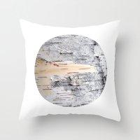 Planetary Bodies - Birch Throw Pillow
