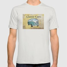 Classic Cars 2 Mens Fitted Tee Silver SMALL