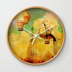 Hot-air balloons animal in Moscow Wall Clock