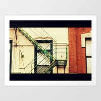 Fire Escape Chicago Art Print