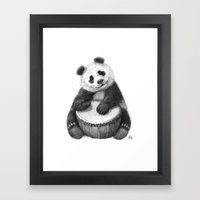 Panda playing percussion G140 Framed Art Print