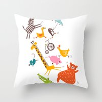 trampolinists Throw Pillow