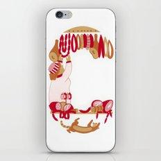 C as Charcutière (Pork butcher) iPhone & iPod Skin