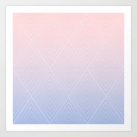 Diamonds (RoseQuartzSerenity Fade) Art Print