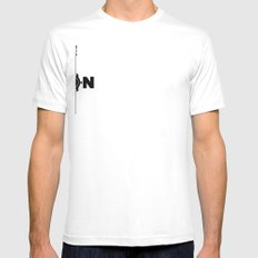 Pulp Fiction  White Mens Fitted Tee SMALL