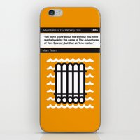 No012 MY Huckleberry Finn Book Icon poster iPhone & iPod Skin